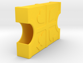 Playing Card Case in Yellow Processed Versatile Plastic