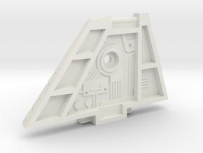 Starcom - F-1400 Starwolf - left Wing in White Natural Versatile Plastic