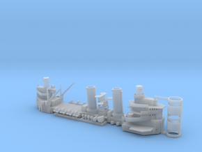 1/600 USS Brooklyn Lght Cruiser parts in Smoothest Fine Detail Plastic
