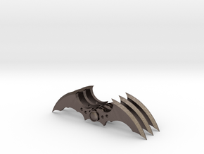 Arkham Asylum Batarang (3 pieces bundle) in Polished Bronzed Silver Steel