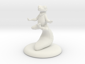 Meditating Lizard Monk in White Natural Versatile Plastic