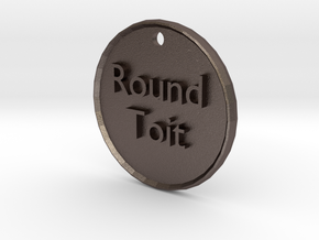roundtoit in Polished Bronzed Silver Steel