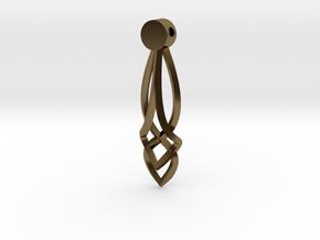 Celtic Drop Pendant Design  in Polished Bronze