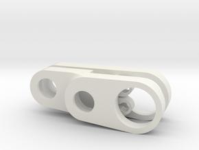 SUPER Gearcase and nut retainer in White Natural Versatile Plastic