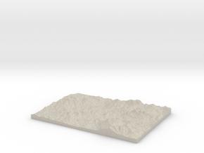 Model of Mapleton in Natural Sandstone