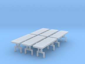 6' Tables Set Up (6 Pack) in Smooth Fine Detail Plastic