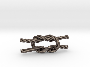 Square Knot in Polished Bronzed Silver Steel