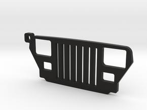 """Jeep Wrangler YJ (1987-1996) REPLICA - dim. 3.7"""" in Black Natural Versatile Plastic"""