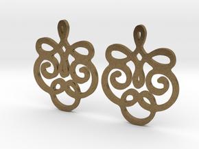 Quad Flourish Earrings in Natural Bronze