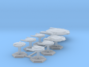7000 Scale Andromedan Fleet Intruder Collection in Smooth Fine Detail Plastic