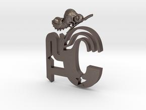 T2C-Chameleon-Brooch in Polished Bronzed-Silver Steel