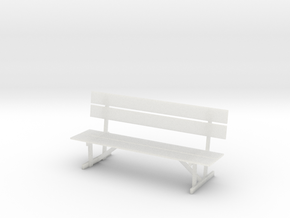1:10 Scale Model - Bench 01 in Smooth Fine Detail Plastic