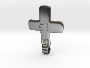 Cross Pendant from Gnezdovo Dn4 Grave in Polished Silver