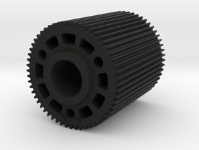 "Preston Standard 0.8 Module Gears. 2"" long in Black Natural Versatile Plastic"