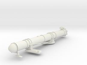 1/29 US PT Boat 109 Torpedo Tube Port in White Natural Versatile Plastic