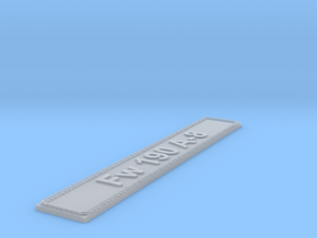 Nameplate Fw 190 A-8 in Smoothest Fine Detail Plastic