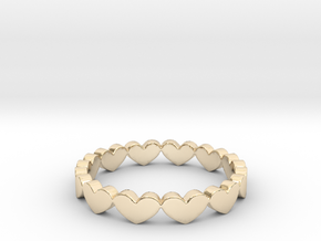 Hearts Ring Design Ring Size 5 in 14K Yellow Gold