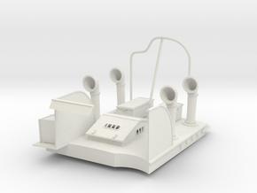 1/29 US PT Boat 109 Engine Room in White Natural Versatile Plastic