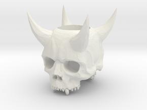 OniSkull Blade Ring in White Natural Versatile Plastic
