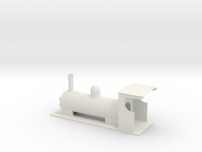 On16.5 colonial style tender loco 1 in White Natural Versatile Plastic