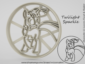 Cookie cutter Twilight Sparkle My Little Pony in White Natural Versatile Plastic