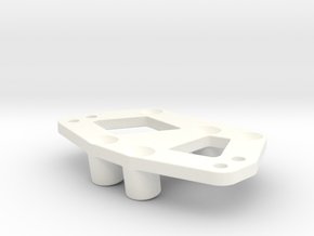 Servo and 4-link mount for the Losi MRC in White Processed Versatile Plastic