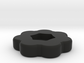 Thumbwheel for 4 inch hexagonal screws in Black Natural Versatile Plastic