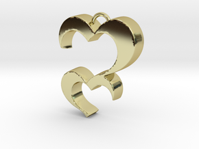 Love You in 18k Gold Plated Brass