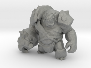 Ogre Warlord 42mm miniature fantasy game rpg model in Gray PA12