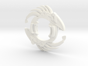 Beyblade Klarken Attack Ring in White Processed Versatile Plastic