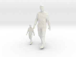 Architectural Man - 1:50 + 1:100 - Walking  in White Natural Versatile Plastic