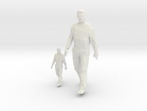 Architectural Man - 1:50 + 1:100 - Walking  in White Natural Versatile Plastic