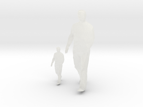 Architectural Man - 1:50 + 1:100 - Walking (2) in Smooth Fine Detail Plastic