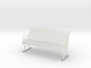 1:10 Scale Model - Bench 03 in Smooth Fine Detail Plastic