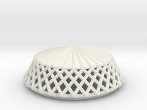 Woven Rain Hat for ModiBot in White Natural Versatile Plastic