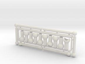 Adjustable Arm Frame for ModiBot in White Natural Versatile Plastic
