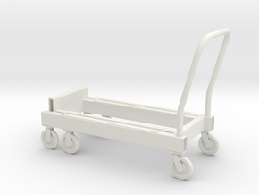 1:14 Carrier special Spezialhandwagen in White Natural Versatile Plastic
