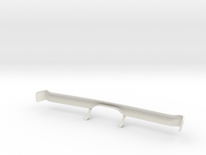 Dodge Charger 1968 Bumper 1-10 in White Natural Versatile Plastic
