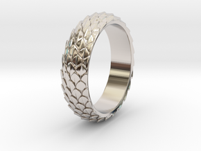 Dragon Scale Ring_B in Platinum: 5 / 49