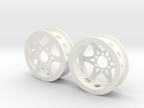 """1.9"""" Wheel for SLW or Axial hubs in White Processed Versatile Plastic"""