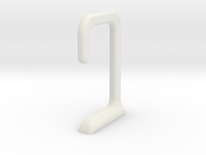 USB under desk cable hook in White Natural Versatile Plastic