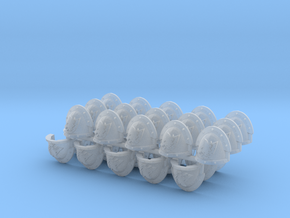 Space Vikings 9th company Mk3.7 #3 pads L x30 in Smooth Fine Detail Plastic