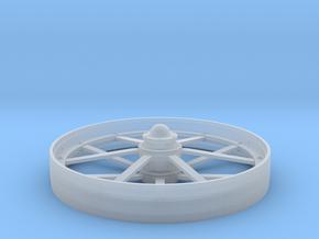 Flat Spoke Wheel in Smooth Fine Detail Plastic