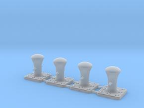 HO Scale (1:87) - Mooring Bollard (4 Pack) in Smooth Fine Detail Plastic
