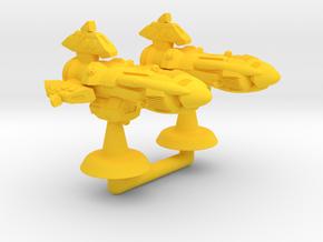 Takanami Heavy Cruiser - 1:20000 in Yellow Processed Versatile Plastic