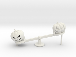 HO Scale Seesaw Pumpkins in White Natural Versatile Plastic