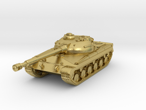 Tank - T-64 - Object 430 - scale 1:220 in Natural Brass