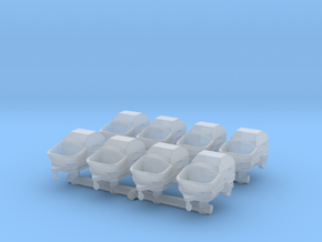 Concrete Pump Trailer (x8) 1/285 in Smooth Fine Detail Plastic