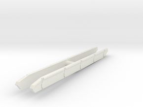 T-64B Side Skirts set 1/87 in White Natural Versatile Plastic