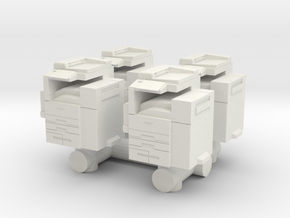 Office Printer (x4) 1/72 in White Natural Versatile Plastic